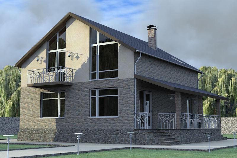 дом из блоков проекты фото затраты